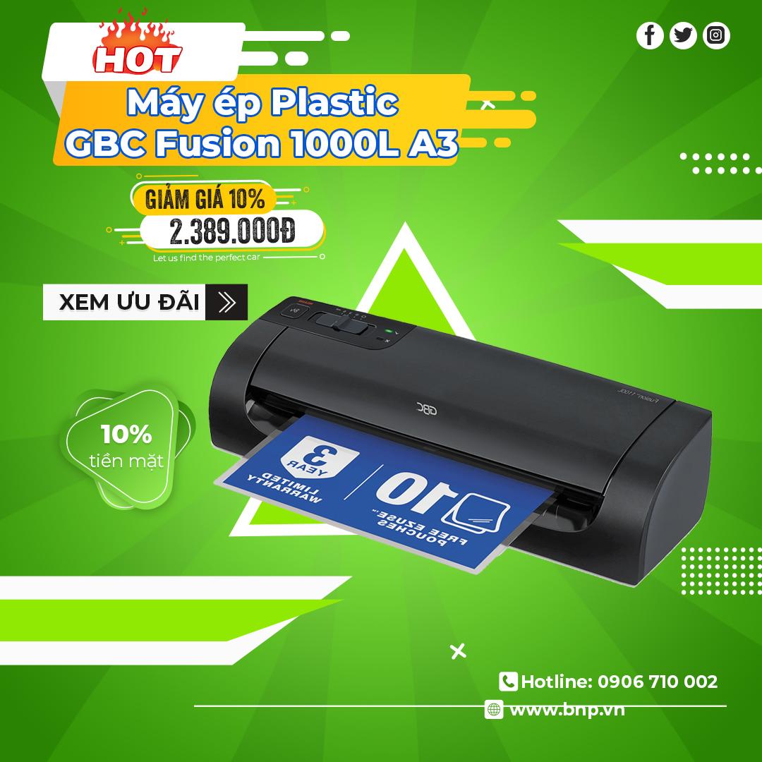 Chương trình khuyến mãi Máy ép Plastic GBC Fusion 1000L A4