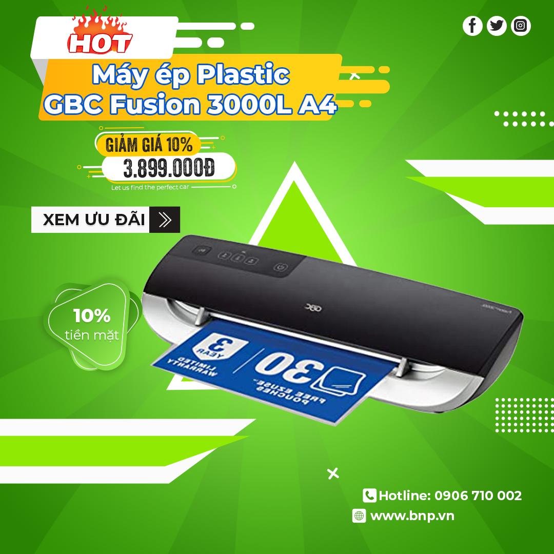Chương trình khuyến mãi Máy ép Plastic GBC Fusion 1100L A3