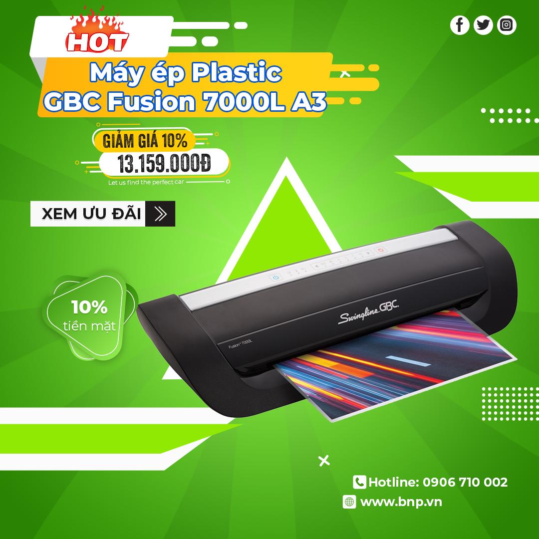 Chương trình khuyến mãi Máy ép Plastic GBC Fusion 7000L A3