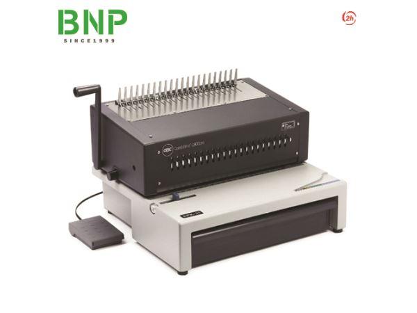 Máy đóng sách vòng xoắn nhựa đục lỗ điện 21 lỗ GBC C800pro - Hình 1