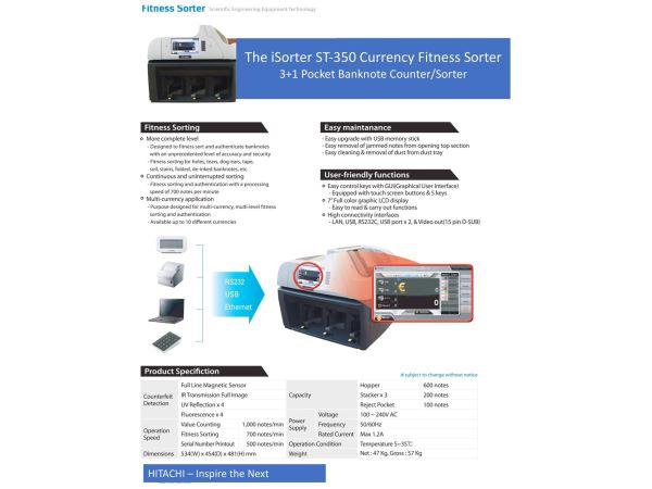 Máy Phân Loại Tiền ATM Hitachi ST-350 Series - Hình 3