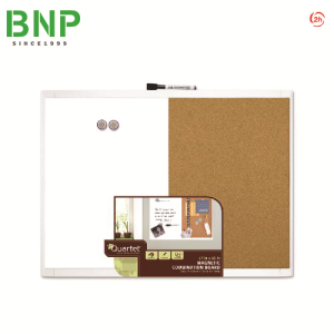Bảng nam châm Quartet White Frame Combination Board 21-580653Q